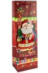 3D Flaschentasche Santa Claus, 13 x 8,5 x 37 cm