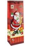 3D Flaschentasche Weihnachtsmann, 13 x 8,5 x 37 cm