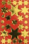 Deko-Aufkleber Goldene Sterne
