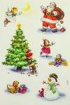 Deko-Aufkleber Weihnachtsfiguren beglimmert