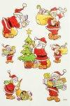Deko-Aufkleber Weihnachtsmann mit Geschenke