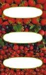 Etiketten Erdbeeren, Kirschen und Beerenmix