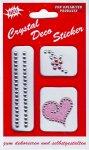 Glitzer-Sticker Herz und Blume rosa