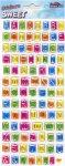 Epoxy-Sticker Alphabet und Zahlen in 5 Farben