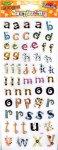 Transparent-Sticker Kleines Alphabet mit Streifen und Karos