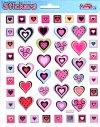 Relief-Sticker Herzen in kleinen Bilderrahmen