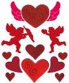 Gel-Sticker Amor und Herzen