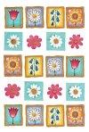 Aufkleber Blumen in kleinen Bilderrahmen