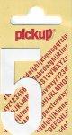 Sticker Ziffer 5, 60 mm weiß