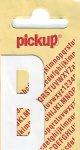 Sticker Buchstabe B, 60 mm weiß