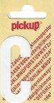 Sticker Buchstabe C, 60 mm weiß