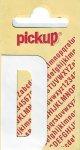 Sticker Buchstabe D, 60 mm weiß