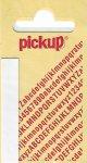 Sticker Buchstabe I, 60 mm weiß