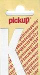 Sticker Buchstabe K, 60 mm weiß
