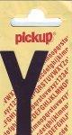 Sticker Buchstabe Y, 60 mm schwarz