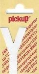 Sticker Buchstabe Y, 60 mm weiß