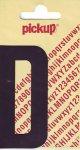 Sticker Buchstabe D, 90 mm schwarz