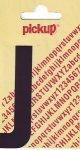 Sticker Buchstabe J, 90 mm schwarz