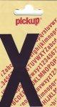 Sticker Buchstabe X, 90 mm schwarz