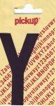 Sticker Buchstabe Y, 90 mm schwarz