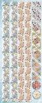 Präge-Sticker Bordüren mit Frühlingsblumen