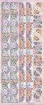 Präge-Sticker Bordüre mit Sommer-Elfen beglimmert