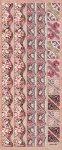 Präge-Sticker Rosen-Bordüren mit Schmetterlingen beglimmert