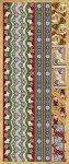 Präge-Sticker Bordüren mit Weihnachtssocken beglimmert