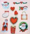 Handgefertigte 3D-Sticker Ich liebe den Weihnachtsmann