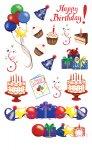 Rubbel-Sticker Happy Birthday