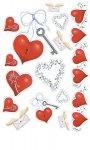 Epoxy-Sticker Herzen und Schlüssel