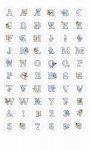 Epoxy-Sticker Alphabet und Zahlen mit Schmetterlingen
