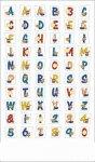 Epoxy-Sticker Buchstaben und Zahlen vom Strand