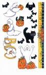 Rubbel-Sticker Fledermäuse, Katzen und Geister
