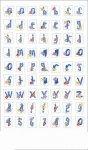 Epoxy-Sticker Sommer-Alphabet mit Zahlen