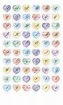 Epoxy-Sticker Buchstaben und Zahlen mit Herzen