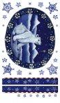Rubbel-Sticker Eisbär im Sternenlicht groß