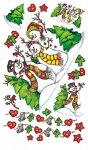 Rubbel-Sticker 'Fröhliche Wald-Schneemann-Familie' groß