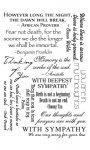 Rubbel-Sticker Beileidsbekundungen in Englisch