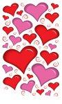 Rubbel-Sticker Herz-Akzente