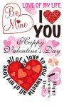 Rubbel-Sticker Liebevolle Worte zum Valentinstag