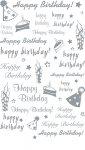 Rubbel-Sticker Happy Birthday mit Kerzen gold metallic