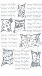Rubbel-Sticker Happy Birthday mit Geschenken 1 silber metallic