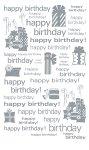 Rubbel-Sticker Happy Birthday mit Geschenken 2 silber metallic