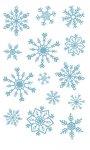 Rubbel-Sticker Eisblaue Schneeflocken