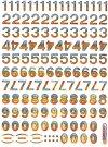 Hologramm-Sticker Buchstaben aus der Karibik