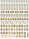 Hologramm-Sticker Zahlen aus der Karibik