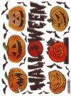 Hologramm-Sticker Halloween - Kürbisköpfe