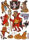 Hologramm-Sticker Halloween - Treffen mit dem Teufel